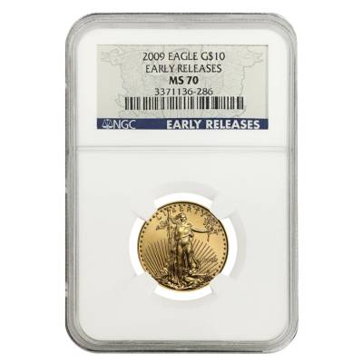 2009 $10 1/4 Gold American Eagle NGC MS 70 Early Releases