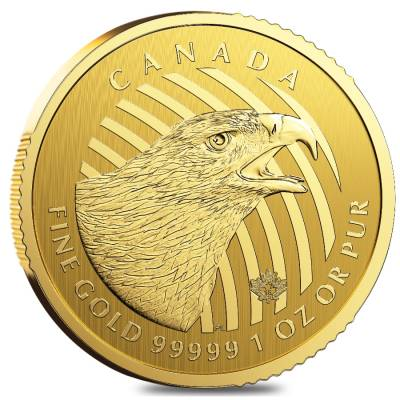 2018 1 oz Canadian Gold Golden Eagle - Call of the Wild $200 .99999 Fine Gold (In Assay)