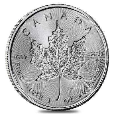 2018 1 oz Silver Canadian Incused Maple Leaf .9999 Fine $5 Coin BU