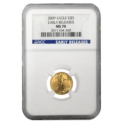 2009 1/10 oz $5 Gold American Eagle NGC MS 70 (Early Releases)