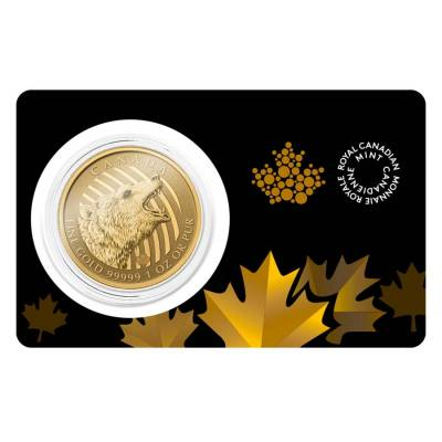 2016 1 oz Canadian Gold Roaring Grizzly - Call of the Wild $200 .99999 Fine Gold (In Assay)