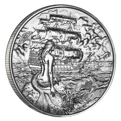2 oz Privateer Series - Siren Ultra High Relief Silver Round
