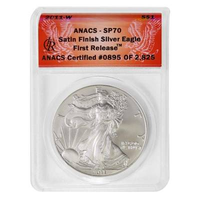 2011 W 1 oz Burnished Silver American Eagle ANACS SP 70 First Release