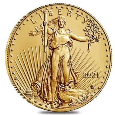 2021 1/10 oz Gold American Eagle Type 2 PCGS MS 70 First Strike