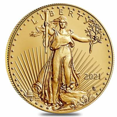 Roll of 20 - 2021 1 oz Gold American Eagle $50 Coin BU Type 2 (Lot, Tube of 20)