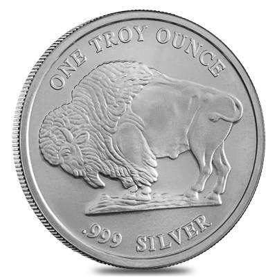 1 oz Silver Buffalo Design Generic Rounds .999 Fine