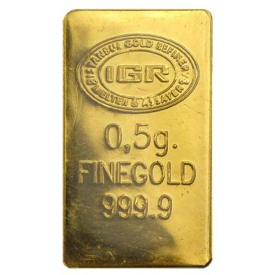 1/2 gram Istanbul Gold Refinery Bar (IGR) .9999 Fine (Christmas Assay)