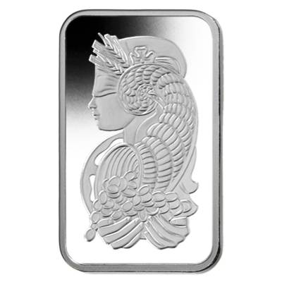 Box of 25 - 1 gram PAMP Suisse Lady Fortuna Platinum Bar .9995 Fine (In Assay)
