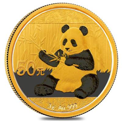 2017 3 Gram Chinese Gold Panda 50 Yuan NGC MS 70 Early Releases