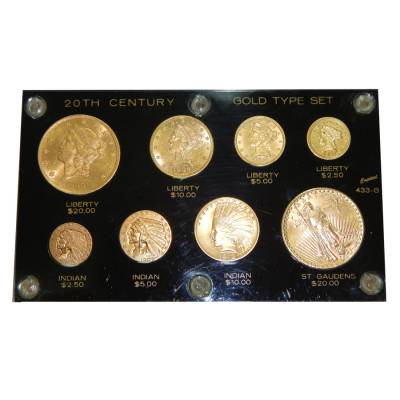 U S 20th Century Gold Type 8 Coin Set Bullion Exchanges