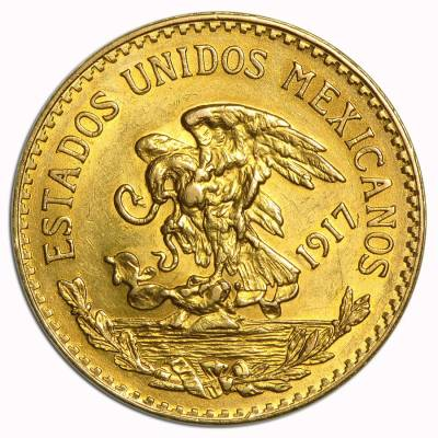 1917 Mexico 20 Pesos Gold Coin