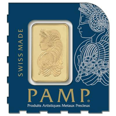1 gram Gold Bar - PAMP Suisse Lady Fortuna .9999 Fine (In Assay from Multigram+2