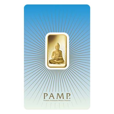 Box of 25 - 10 gram PAMP Suisse Gold Bar - Buddha (in Assay) .9999 Fine