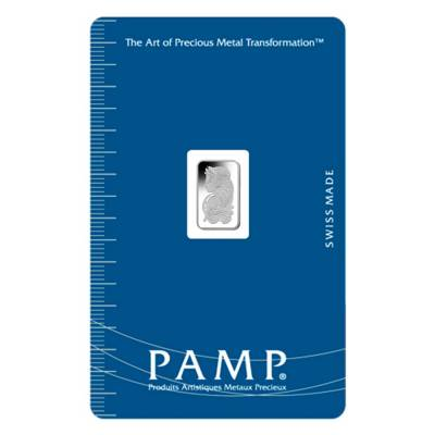 1 gram PAMP Suisse Palladium Bar .9995 Fine (In Assay)