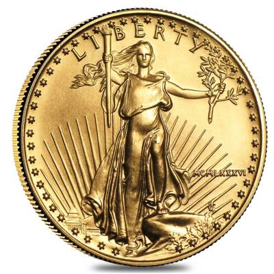 1986 1/2 oz Gold American Eagle BU (MCMLXXXVI) - First Year of Issue