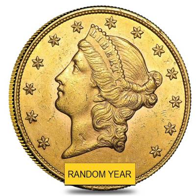 $20 Liberty Gold Double Eagle Coin (Almost Uncirculated)