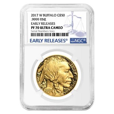 2017-W 1 oz $50 Proof Gold American Buffalo NGC PF 70 Early Releases