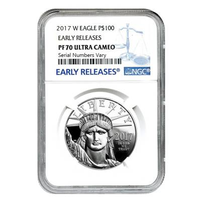 2017-W 1 oz Platinum American Eagle Proof Coin NGC PF 70 UCAM Early Releases - 20th Anniversary