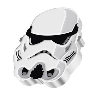 2021 Niue 1 oz Silver Imperial Stormtrooper Shaped Coin - Star Wars Faces of the Empire .999 Fine (w/Box & COA)