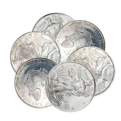 1 oz Silver American Eagle (Cull, Damaged, Circulated, Cleaned)