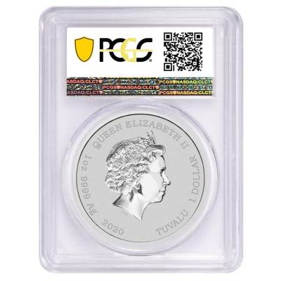 2020 1 oz Tuvalu Krusty The Clown Silver Coin PCGS MS 70 First Strike