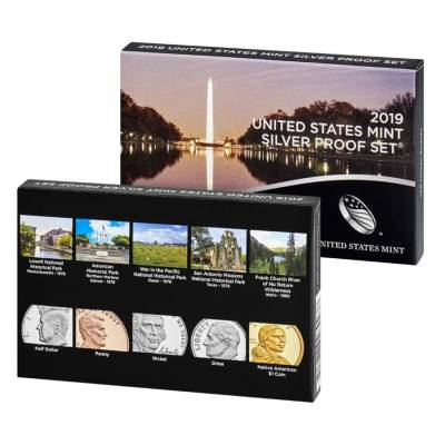 """2019 US Mint Proof Silver 10-Coin Set Comm. (w/o Lincoln """"W"""" Reverse Proof Penny)"""