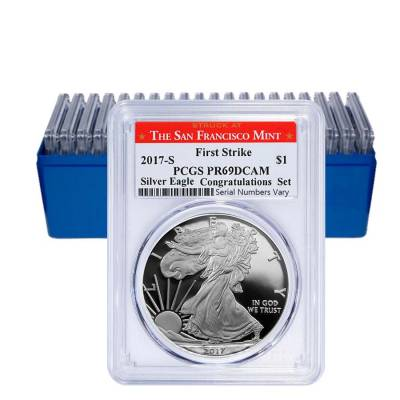 2017-S 1 oz Proof Silver American Eagle PCGS PF 69 DCAM First Strike (SF Label)