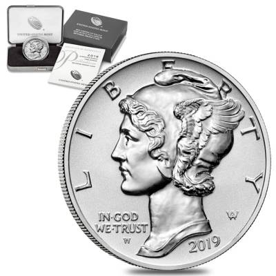 2019-W 1 oz Reverse Proof Palladium American Eagle $25 Coin (w/Box & COA)