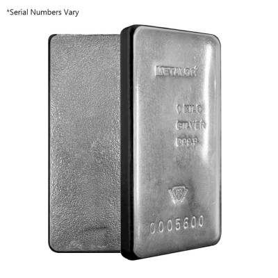 1 Kilo Metalor Silver Bar .9999 Fine