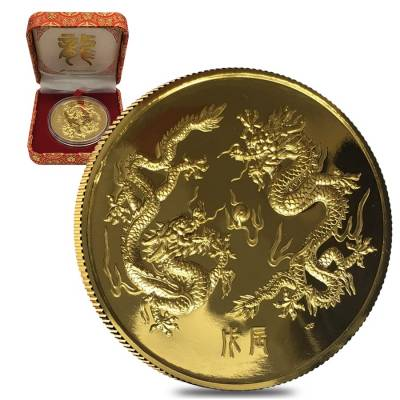 1988 5 oz Singold Singapore Year of the Dragon Proof Gold Coin (w/Box & COA)