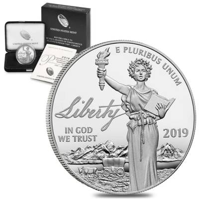 2019-W 1 oz Proof Platinum American Eagle - Liberty - Preamble to the Declaration of Independence