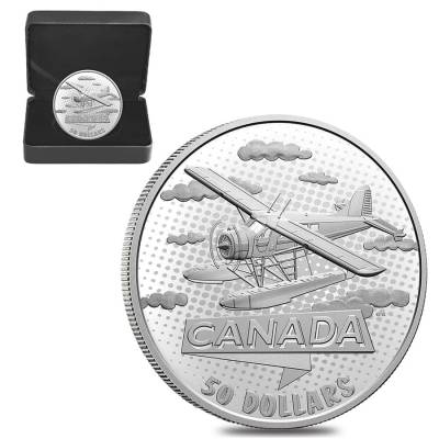 2021 Canada 5 oz First 100 Years of Confederation - Canada Takes Wing Proof Silver Coin .9999 Fine (w/Box & COA)