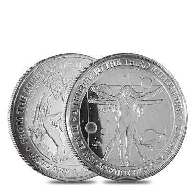 6 oz Silver Generic Rounds .999 Fine