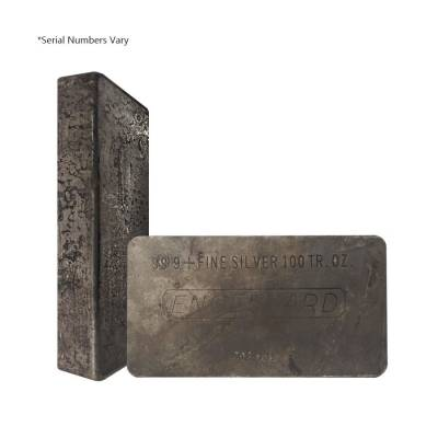 100 oz Engelhard Silver Vintage Bar .999+ Fine (4th Series, Purity Space)