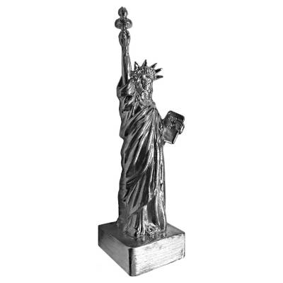 2 oz Statue of Liberty Cast Silver Bullion Exchanges .925 Silver Sterling (Antiqued)