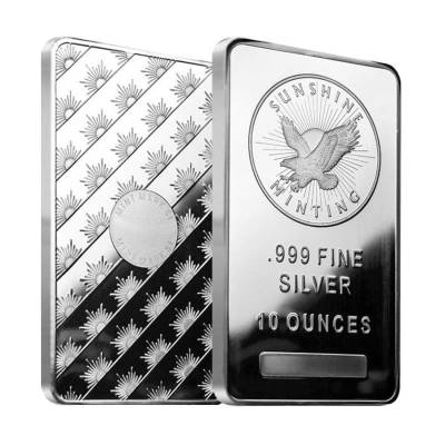 10 oz Sunshine Mint Silver Bar .999 Fine (Sealed)