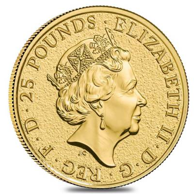 2019 Great Britain 1/4 oz Gold Queen's Beasts (Falcon) Coin .9999 Fine BU