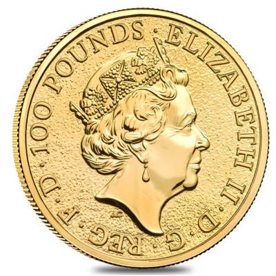 2019 Great Britain 1 oz Gold Queen's Beasts (Falcon) Coin .9999 Fine BU