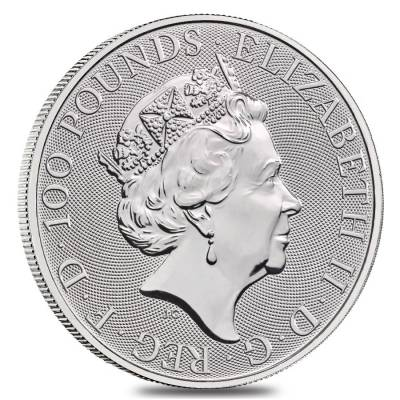 2019 Great Britain 1 oz Platinum Queen's Beasts (Unicorn of Scotland) Coin .9995 Fine BU