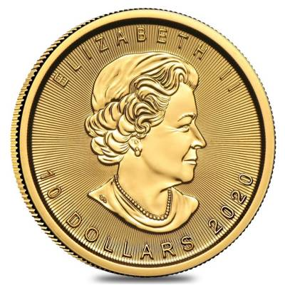 2020 1/4 oz Canadian Gold Maple Leaf $10 Coin .9999 Fine BU (Sealed)