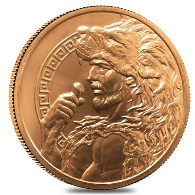 5 oz 12 Labors of Hercules Copper Round