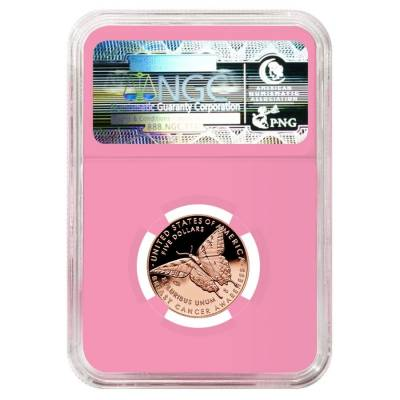 2018 W Breast Cancer Awareness $5 Proof Gold Commemorative NGC PF 69 Early Releases