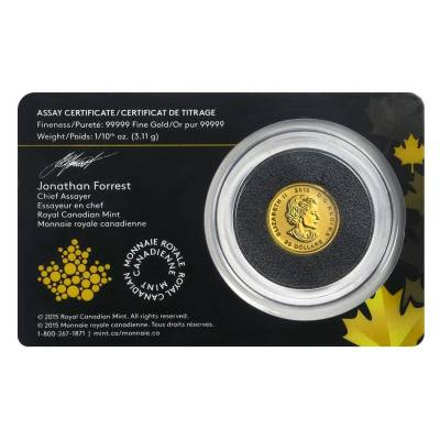 2016 1/10 oz Canadian Gold Growling Cougar - Call of the Wild $20 .99999 Fine Gold (In Assay)