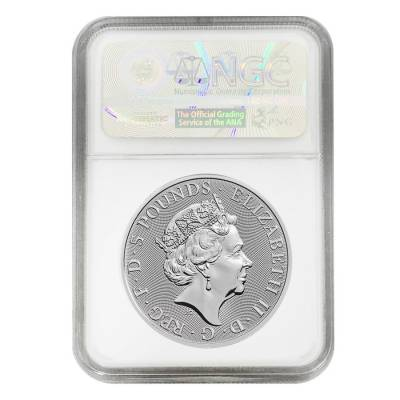2019 Great Britain 2 oz Silver Queen's Beasts (Falcon) Coin NGC MS 69 Early Releases