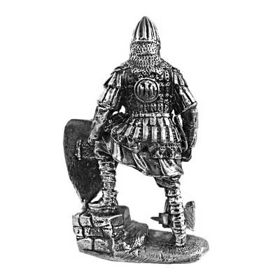 3 oz Silver Russian Warrior Middle Ages .925 Silver Sterling - Art of War Series (Antiqued)