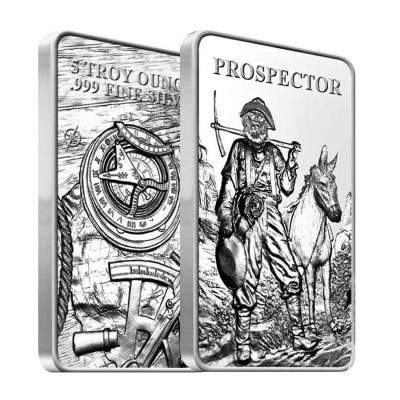 Prospector 5 Oz Silver Bar Sealed 999 Bullion Exchanges