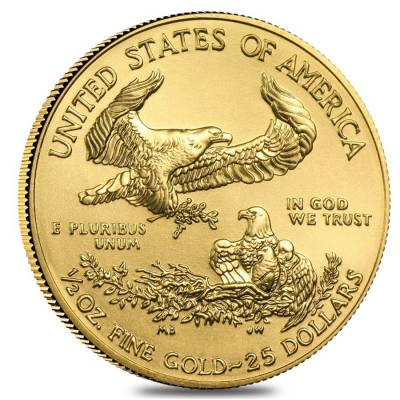 2019 1/2 oz Gold American Eagle $25 Coin BU