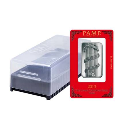 Box Of 25 1 Oz Pamp Suisse Year Of The Snake Silver Bar