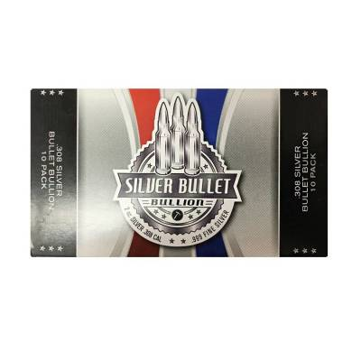 2 oz .308 Caliber Solid Silver Bullet