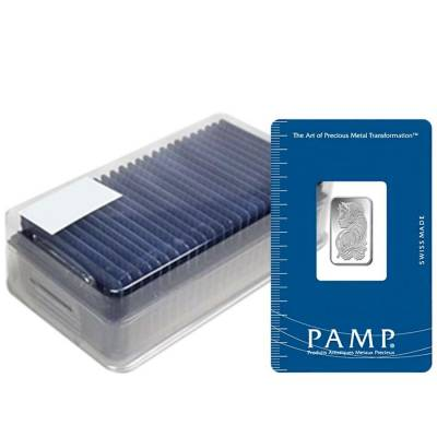 2.5 Gram PAMP Suisse Lady Fortuna Silver Bar .999 Fine (In Assay)